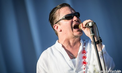 Mike Patton of Faith No More performs live on stage at Sonisphere Festival