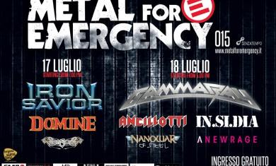 metal for emergency  - locandina - 2015