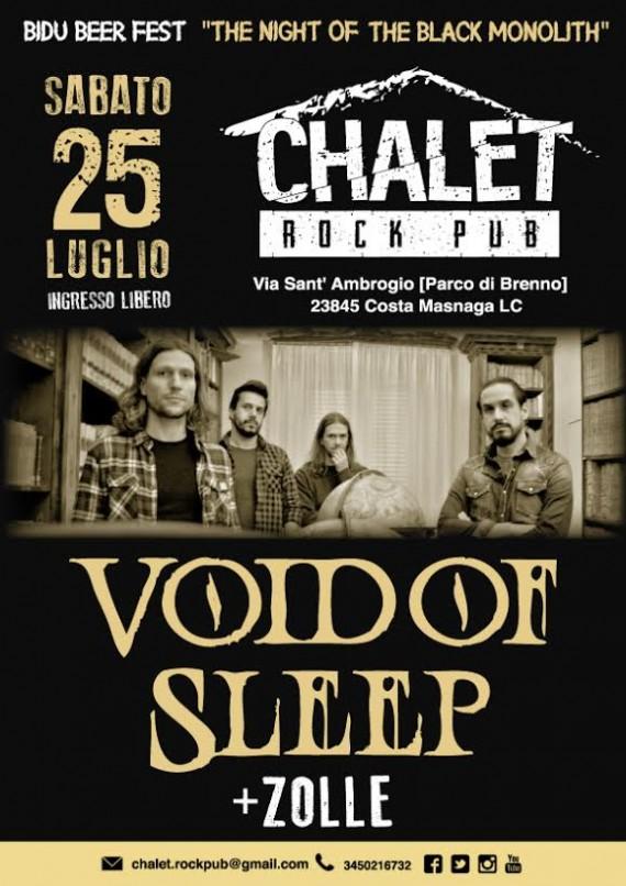 void of sleep locandina lecco 2015