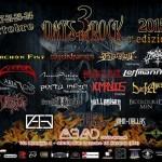 3 DAYS IN ROCK: i dettagli della prossima edizione