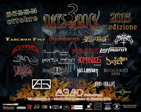 3 days in rock 2015