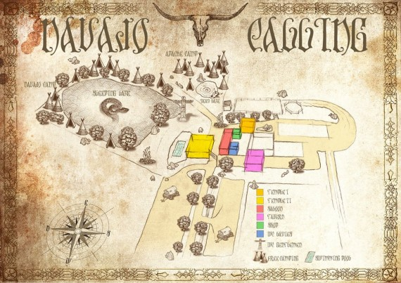 Navajo Calling - mappa area - 2015