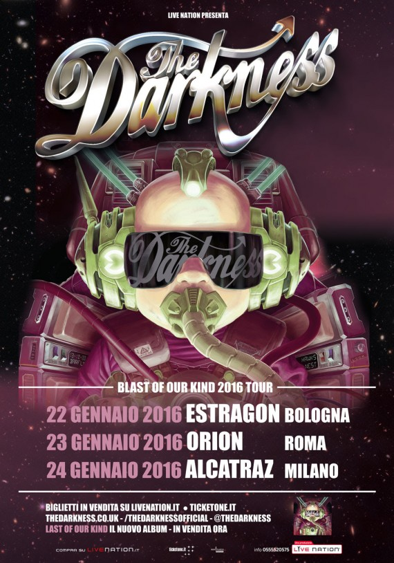 the darkness - tour - 2016