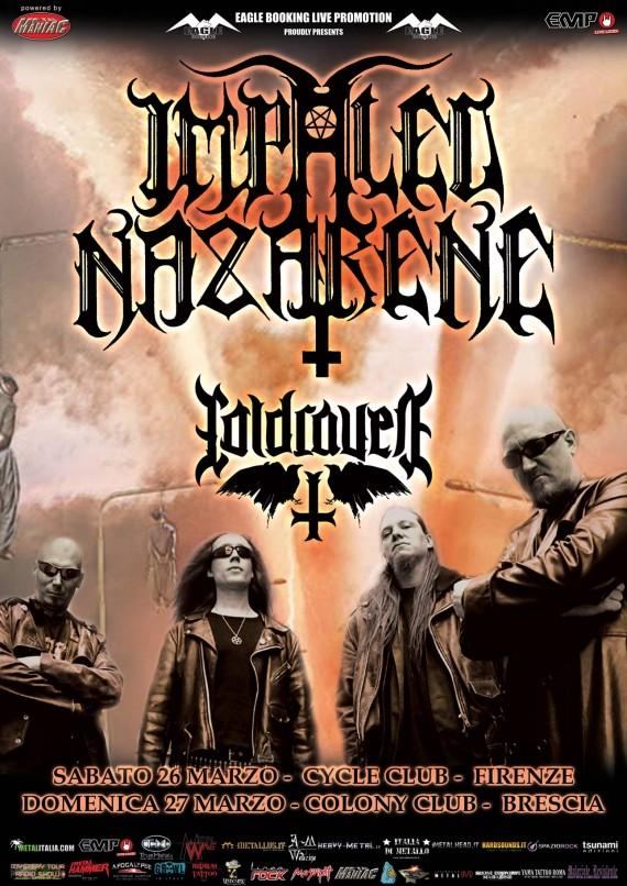 Impaled Nazarene Italy - locandina date italia - 2016