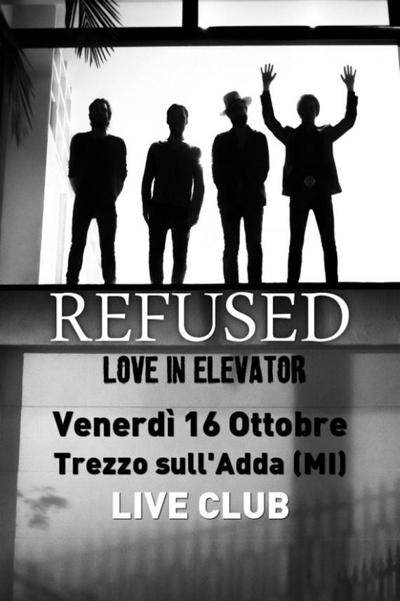 Refused - locandina Live Trezzo 2015 - 2015