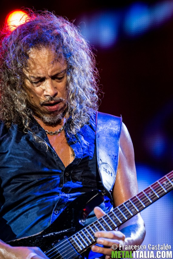 Kirk Hammett of Metallica performs live on stage at Sonisphere Festival