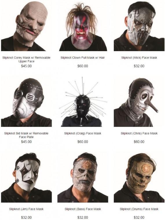 slipknot - maschere - 2015