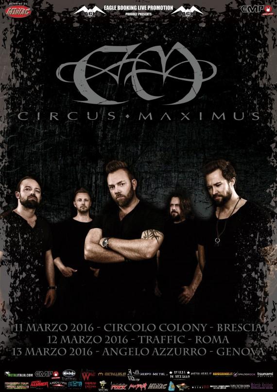 Circus Maximus - date italia - 2016