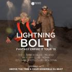 Lightning Bolt + Abovethetree & The Drum Ensemble Du Beat