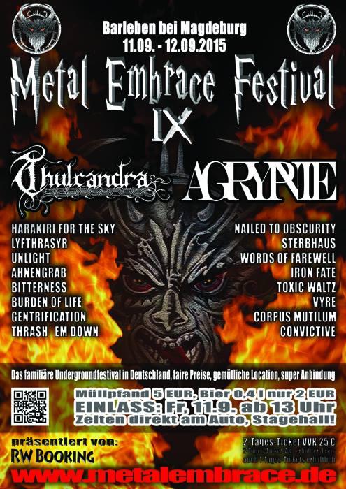 Metal Embrace - locandina - 2015