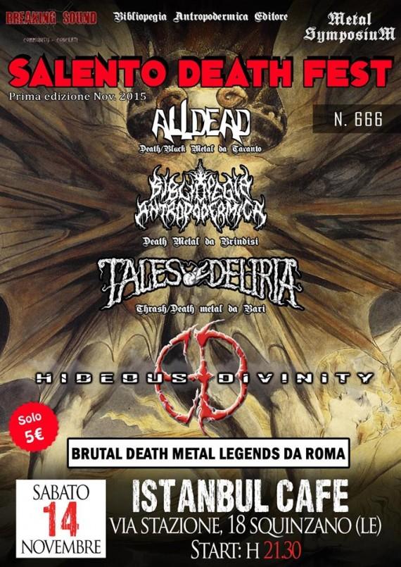 Salento Death Fest - flyer - 2015