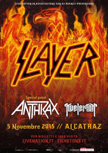 Slayer - locandina alcatraz 2015