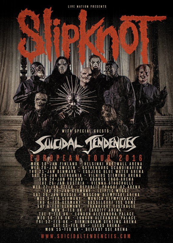 Suicidal Tendencies - Slipknot European Tour - 2016