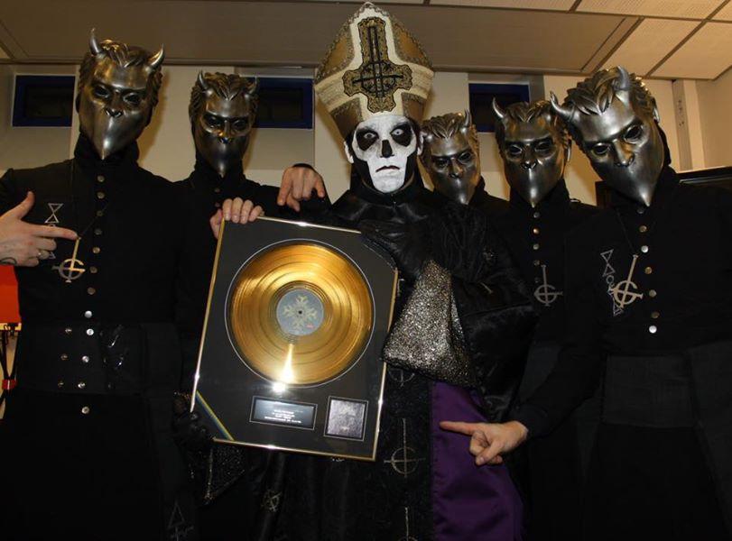 """GHOST: """"Meliora"""" disco d'oro in Svezia"""