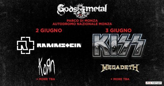 gods of metal 2016 - secondo aggiornamento band