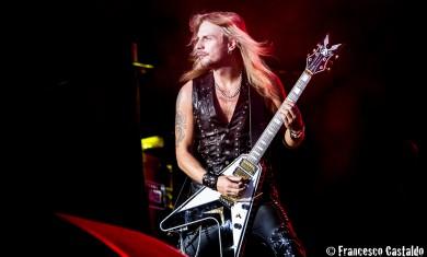 Faulkner of Judas Priest performs live at Assago Summer Arena