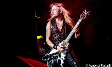 Faulkner of Judas Priest performs live at Assago Summer Arena