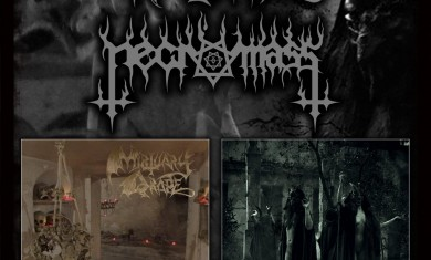 mortuary drape - necromass - split promo - 2015