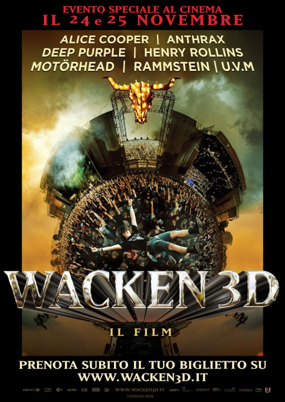 wacken 3d - cinema italia - 2015