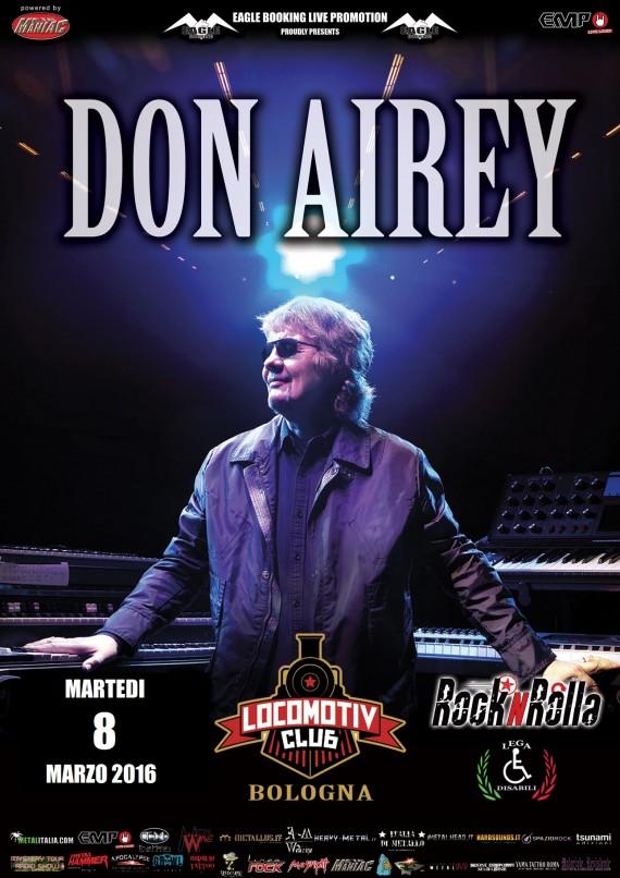 DON AIREY - locandina Bologna - 2015