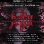 death to all - nuove date - 2016