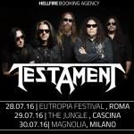 testament - date italia - 2016