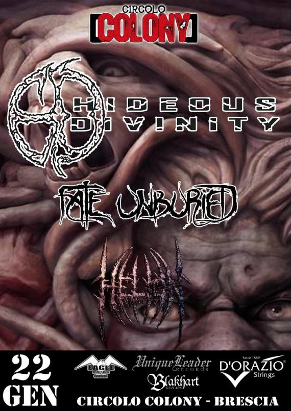 Hideous divinity - colony brescia 2016