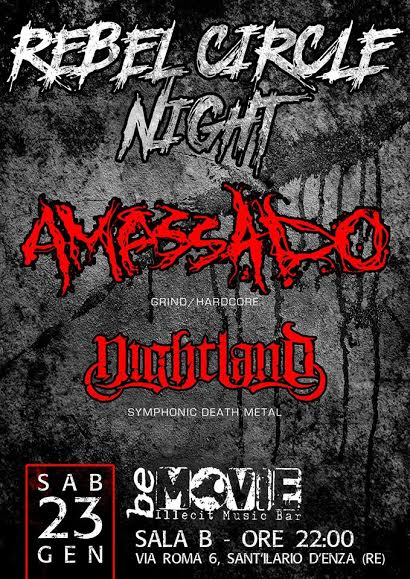 amassado - nightland - locandina reggio emilia 2016