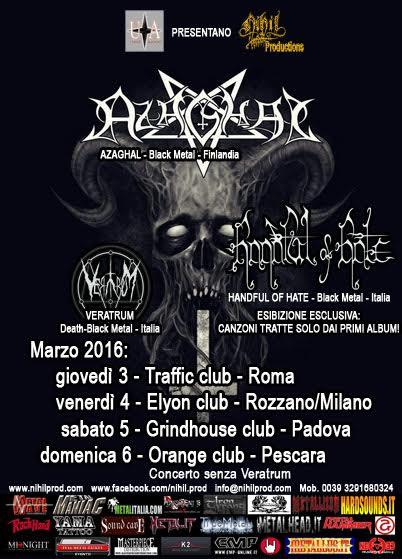 azaghal - tour 2016