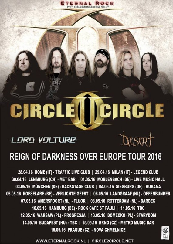 circle II circle - tour europeo locandina - 2016