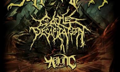 suffocation e cattle decapitation - locandina tour 2016