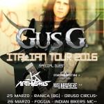 GUS G.: tre date in Italia