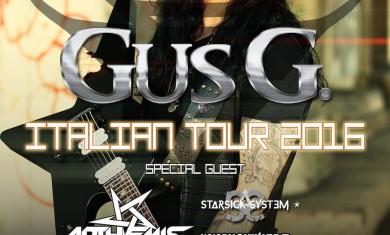 GUS G - tour italia - 2016