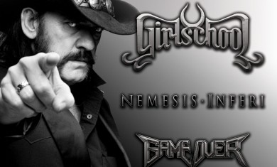 Girlschool - serata lemmy - brescia - 2016