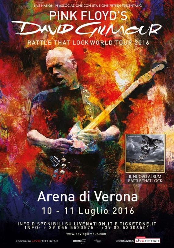 david gilmour - arena verona locandina - 2016