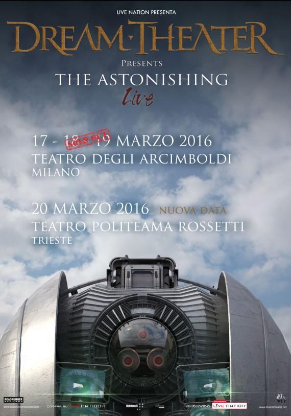 dream theater - locandina annuncio trieste - 2016