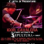 IGOR CAVALERA: drum clinic a Cagliari
