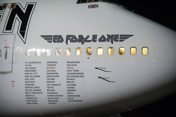 iron maiden - ed force one 5 - 2016