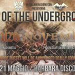 RISE OF THE UNERGROUND FEST 4: SCHIZO e NOVEMBRE co-headliner a Catania