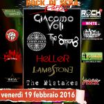 ROCK DI SERA PARTY: Giacomo Voli (TEODASIA) e altre conferme