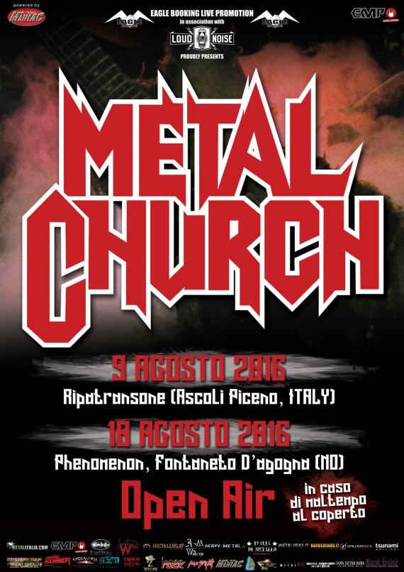 Metal Church - date italia - 2016