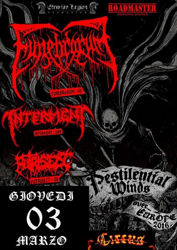 Pestilential Winds - Flyer - 2016