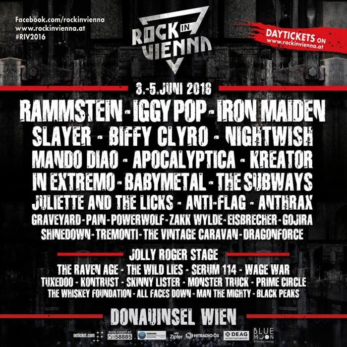 ROCK IN VIENNA - bill definitivo - 2016