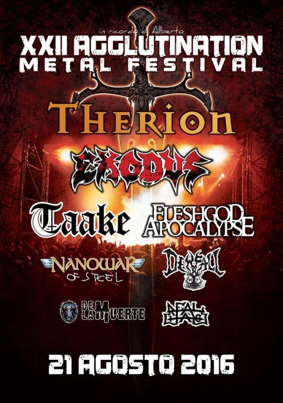 agglutination metal festival 2016 - locandina def