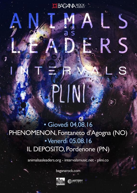 animals as leaders - date italiane 2016 locandina