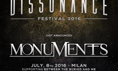 dissonance festival 2016 - annuncio monuments