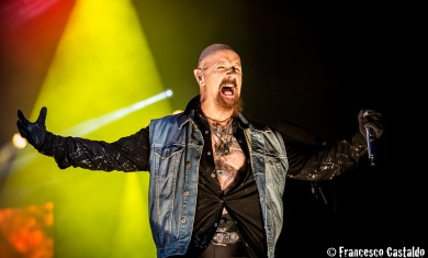 Rob Halford of Judas Priest performs live at Assago Summer Arena