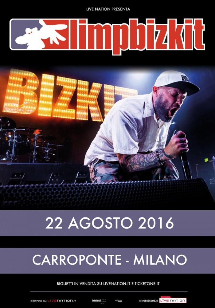 limp bizkit - locandina sesto - 2016