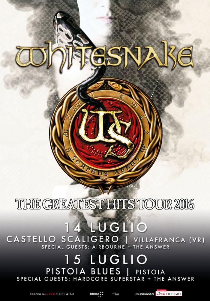 whitesnake - supporti date italia - 2016