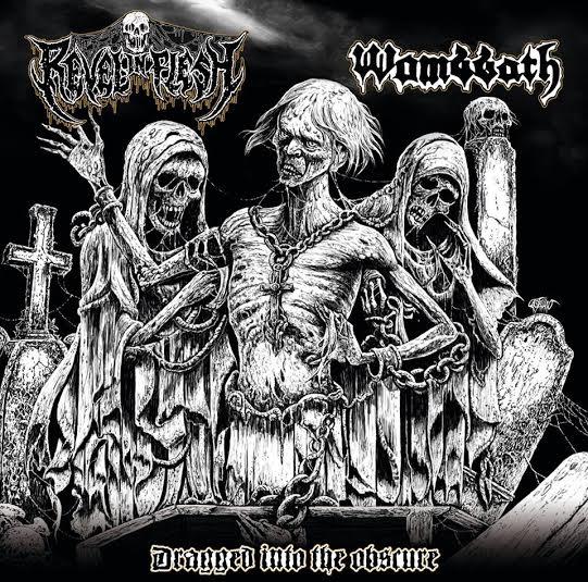 wombbath - revel in flesh - split - 2016